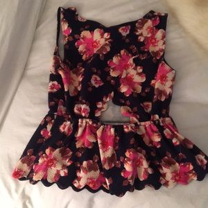 Anthropologie Tops - Floral peplum top